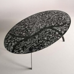 Oval table by Tord Boontje for Moroso. Love the hand sketched look!