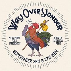 Way Over Yonder - weekend of concerts at the Santa Monica Pier - love the Rooster with a Bindle graphic