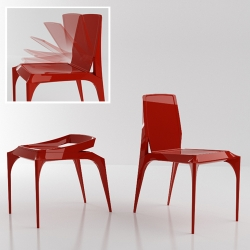 Industrial designer Jang Yoon's Janus Chair takes a modern and clever new approach to the concept of stackable chairs.