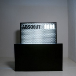 An interesting mobile bar for Absolut Vodka equipped with a visual effect. Idea by Yorgo Tloupas.