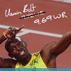 New online game from Puma to honor the fastest man in the world, Usain Bolt, winner of the 100, 200 and 4 x 100 meters in Beijing Olympic Games.
