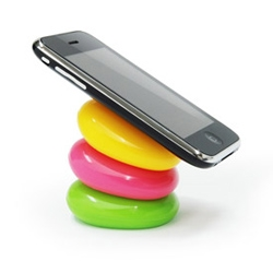 Your Pebbles from Korean company DesignMAXX are stackable silicone pebbles to prop up your electronics. They also have hollow backs for storage. Only available in Korea for now.