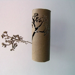 Toilet paper roll made beautiful! Fantastic cut-outs by Yuken Teruya!