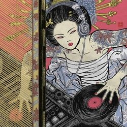 I love how Yuko Shimizu's illustrations mix traditional japanese woodblock style with modern subjects. [Editor's Note: Previously seen as #2630 ~ but lots of new work up!]