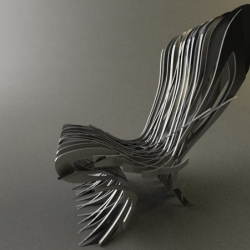 Bulgarian based industrial designer Yuliyan Mikov's releases images of his latest piece, the Roots Chair.