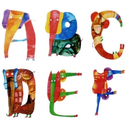 ELEPHABET is a beautiful hand-drawn typeface features 26 elephants-shape alphabet by Malaysian-artist Yusof Gajah for children literacy.