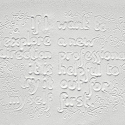 """Nice typography work with sugar by Marian Bantjes for Stefan Sagmister's """"Things I have learned in my life so far"""" series."""