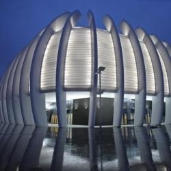 Croatian architectural and engineering firm UPI-2M designed the recently completed Arena Zagreb, a multi-purpose sports hall located in the southwestern part of Zagreb, Croatia.