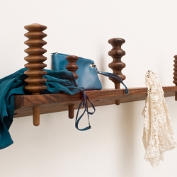 This coathanger called Garderobe by Zascho Petkov lies somewhere between romantic country style and an eyecatching artpiece. Made of french walnut.