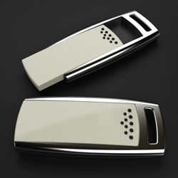 An exclusive flash drive called 'Z-drive', designed by Mindsailors studio from Poland,  takes the traditional USB memory design to the next level by combining technology with fashion. Z-drive received IF Product Design Award 2009.