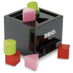 Every kid has to go through the sorting box to learn shapes... why wasn't mine as sleek glossy black as this Brio one?