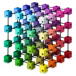 "Colorcube: an impressive ""toy"" that would look great on a designer's desk/shelf/etc... and something fun to play with while visualizing and picking colors... in 3D"