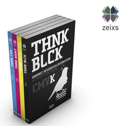 "The new zeixs books are out now! ""Think CMYK"" is a series of four titles dedicated to working with only one colour of the CMYK-range, plus black."