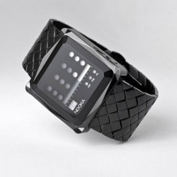 New collection for Nooka with the ZEM Watch. Two colors silver and black and features a gem-cut case + gem-cut mineral crystal lens.