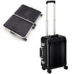 Zero Halliburton goes Geo Aluminum for a whole new hardcase silhouette. The matte black is tempting...