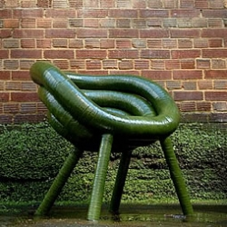 Design by Diplomat. Zilla is an experimental lounge chair made from a composite construction of materials that include glass, aluminium and epoxy.