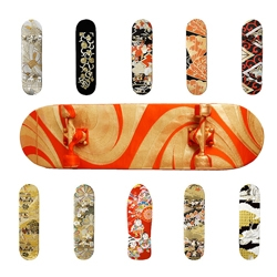 David Guarino's fabric covered skateboards comissioned by Cool Hunting.