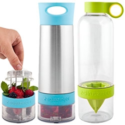 Zing Anything has Aqua, Citrus, Vodka, ad Salas Zingers - to easily infuse in your bottle!