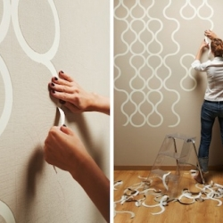 "Applying wallpaper to walls has never been so fun. With this perforated ""tear off"" wallpaper from ZNAK, you can customize the appearance of your space by tearing off the pieces as you please."