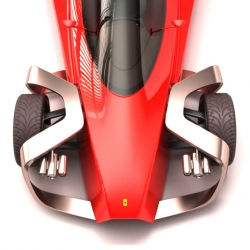 The Zobin Concept is a design study of a single-seater aerodynamic sportscar inspired by Ferrari Formula 1 cars. The author is Iranian engineer Siamak Ruhi Dehkordi.
