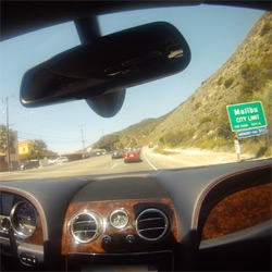 GoPro HD Hero + Bentley test drive video ~ Zoooom around LA, 40 minutes compressed to 2! From Malibu canyon to pch to the 10 to 405 to sunset and back to the beach...